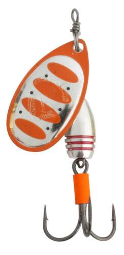 Savage Gear  Rotex Spinner #5 14g 04-Fluo Orange Silver für Barsch Hecht Forelle