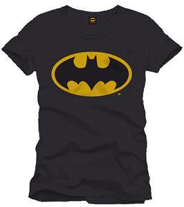 Batman-T-Shirt-Classic-Logo-verschiedene-Groessen-Auswahl