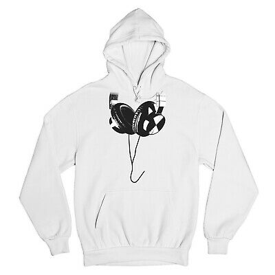 Hanging Headphones Hoodie Club Party Music Festival Funny DJ Dub Step Sweatshirt