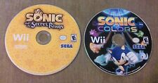 wii sonic colors and the secret of the rings. (disk only)