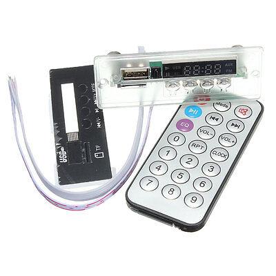 5V/12V MP3 Audio Decoder Board Digital USB TF Card FM Radio + LED Remote for Car