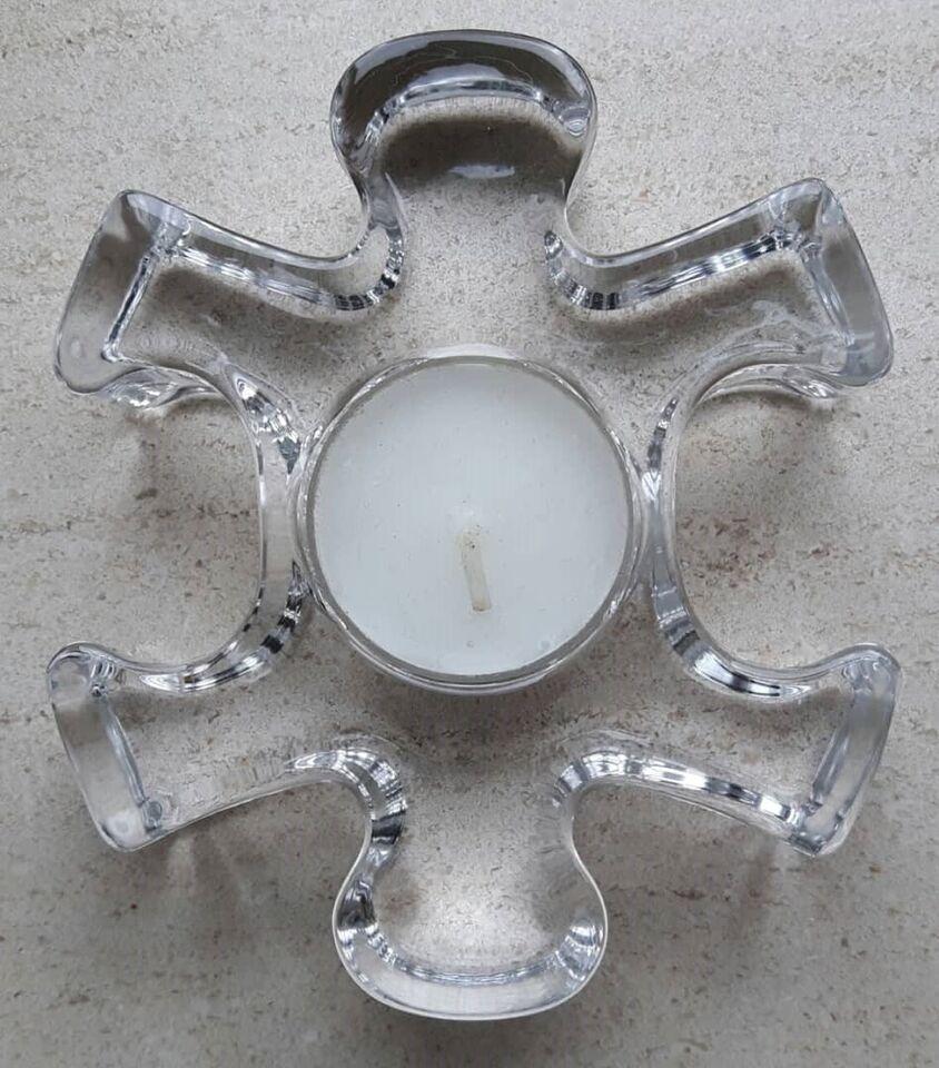 Glas, Puzzle - Puslebrik - Lysestage