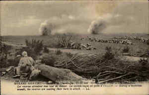 Militaer-Militaria-Postkarte-Schlacht-Bataille-de-Champagne-Westfront-Frankreich