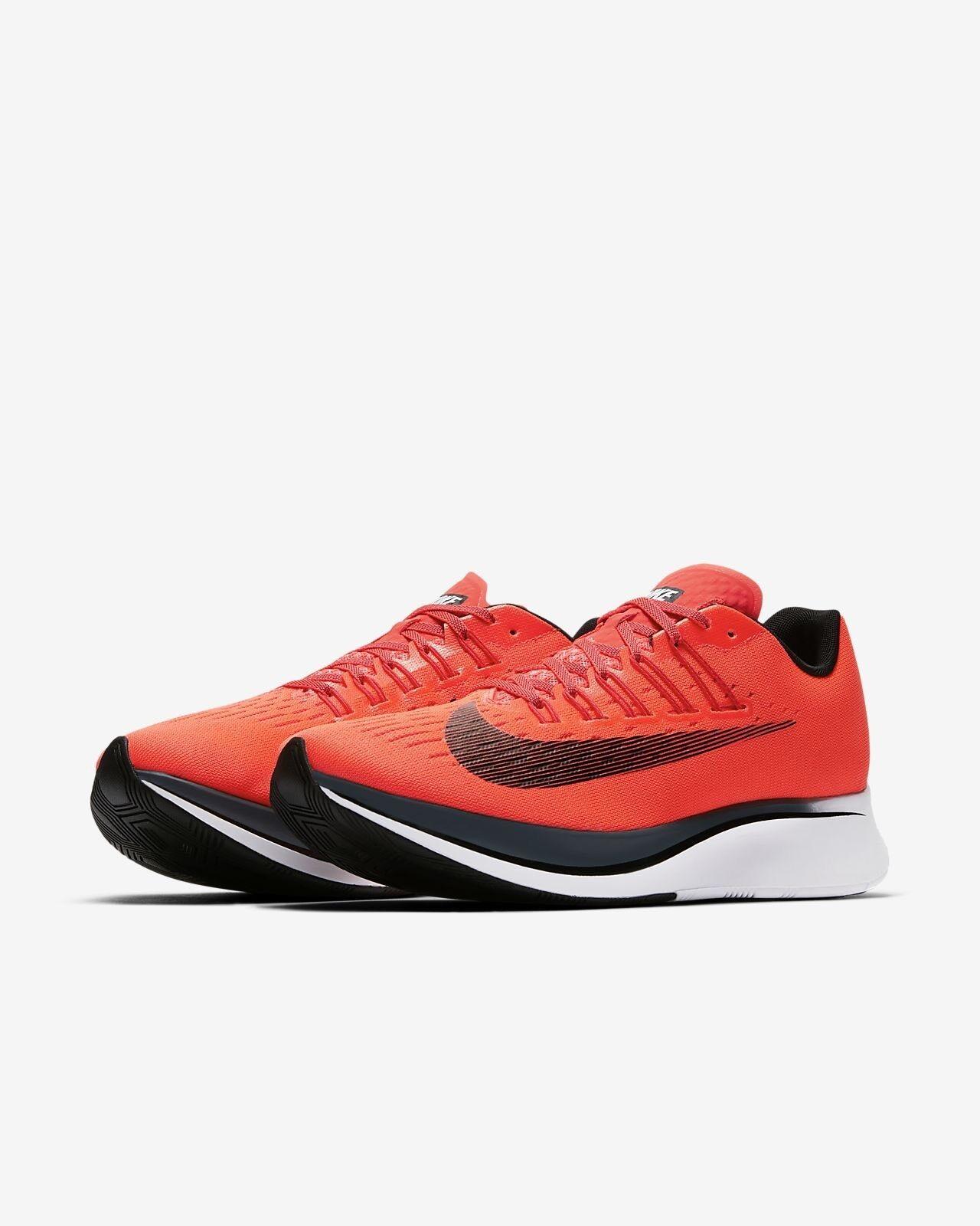 Men's Nike Zoom Fly Bright Crimson Black bluee Fox 880848-614 Size 15