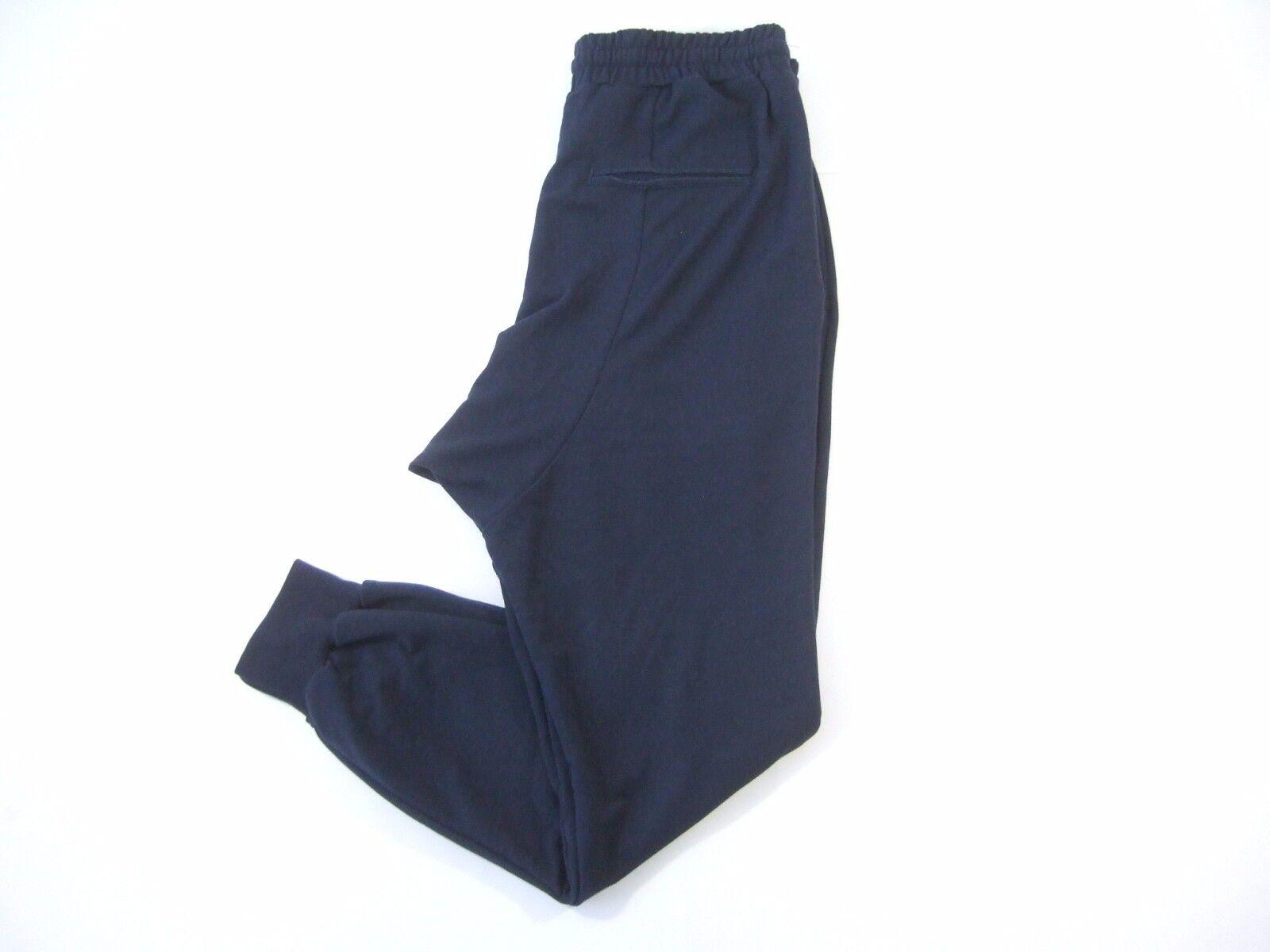 BLACK APPLE 4840 NAVY BLUE SMALL JOGGER JOG SWEAT PANTS MENS NWT NEW