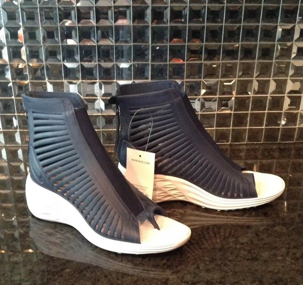 NWT New Nike 6.5 Lunarsandiator Navy bluee Wedge Sneaker Sky Hi High 6 1 2