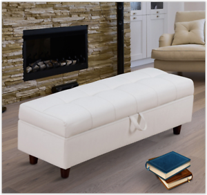 End Bed Bench Storage Window Chaise Lounge Seat Hall Furniture