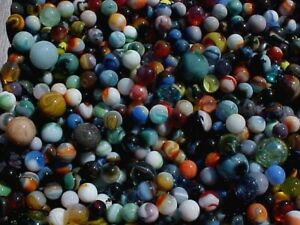 PLEASE-READ-ONE-POUND-OF-MIXED-MARBLES-FLOOR-SWEEPINGS-16-49-POSTPAID