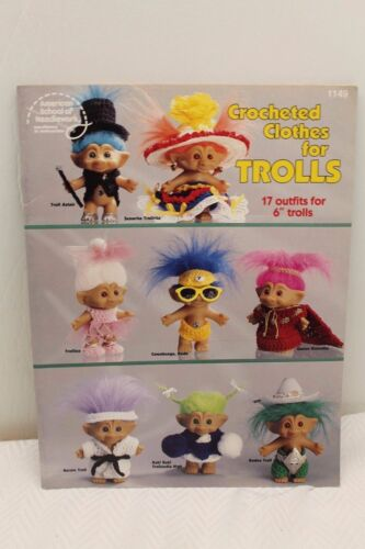 ~~Clothes for Trolls 17 Outfits For 6-inch Dolls Crochet Patterns Book Crocheted