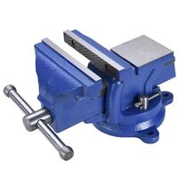 5 Cast Iron Bench Vise Anvil 360° Swivel Locking Base Table Desktop Clamp Tool