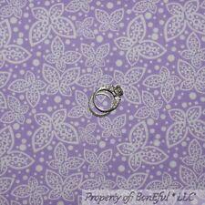 BonEful Fabric Cotton Quilt Purple White Spring Butterfly Little Polka Dot SCRAP