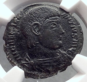 MAGNENTIUS-350AD-Chi-Rho-Labarum-Authentic-Ancient-Roman-Coin-NGC-XF-Rare-i60273