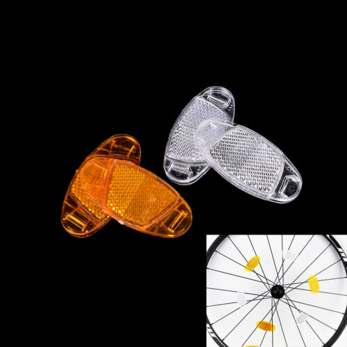 1 Pair bicycle spoke reflector warning light bicycle wheel rim reflective new  S