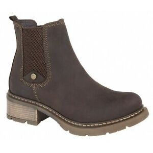 Cipriata-CALICO-Ladies-Womens-Real-Leather-Stylish-Zip-Up-Chelsea-Boots-Brown