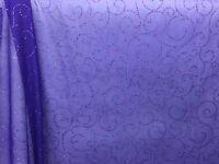 Purple Mesh Fabric Purple Glitter Circle Design 2 Yards 58