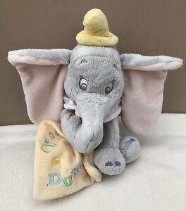 Disney-Store-Baby-Dumbo-Elephant-Comforter-With-Blankie-Soother-Soft-Toy