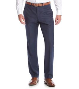 KENNETH COLE REACTION MEN blueE SLIM FIT FLAT FRONT DRESS PANTS 31 W 32 L