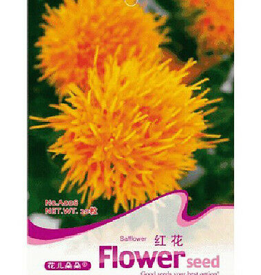 Chinese medicine Saffron Flower Seeds ~1 Pack 40 Seeds~ Free Shipping
