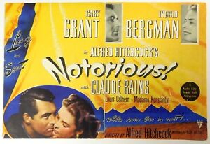 Image is loading NOTORIOUS-Rare-1946-Movie-ALFRED-HITCHCOCK-Film-COLOR-