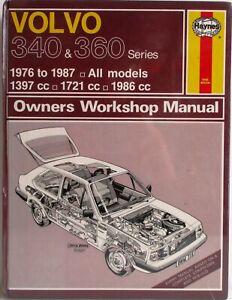 Haynes-Volvo-340-amp-360-Serie-1976-1987-Todo-Modelos-Propietario-Manual-de-Taller