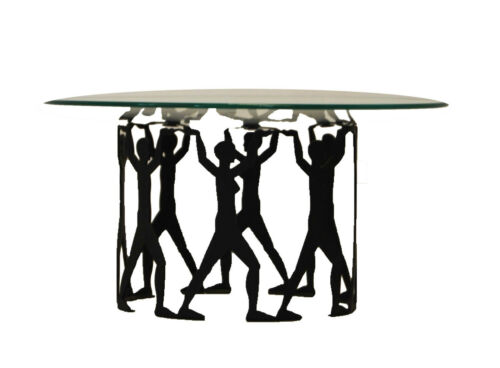 table centerpiece Mid century silhouetted figures style of Karl Hagenauer