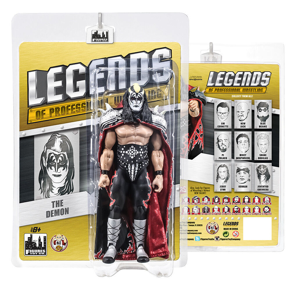 Legends of Professional Wrestling Series Action Figures  The Demon KISS