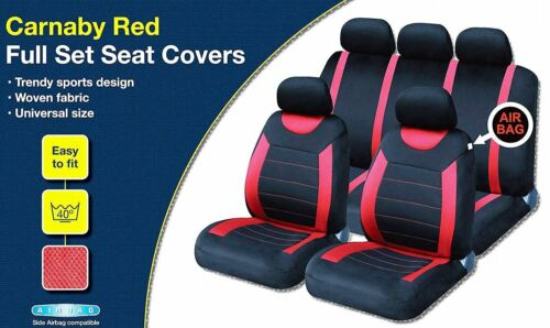 UKB4C Red Full Set Front /& Rear Car Seat Covers for Aygo 05-On