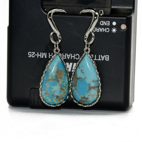Turquoise Stone Dew Drop Waterdrop Dotted Ear Weights Expander Ear Stretcher