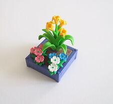 PLAYMOBIL (R647) MAISON MODERNE - Bac à Fleurs Bleu 3965
