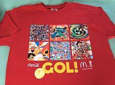 FIFA World Cup Brazil Brasil GOL McDonalds Coca Cola Coke T-shirt Mens Medium