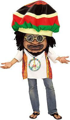Rasta Mon Jamaican Parade Pleaser Mascot Dress Up Halloween Deluxe Adult Costume