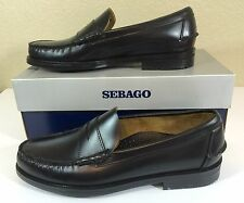 Sebago Men's Classic Grant Black Penny Loafers Shoes 10D Slip Ons