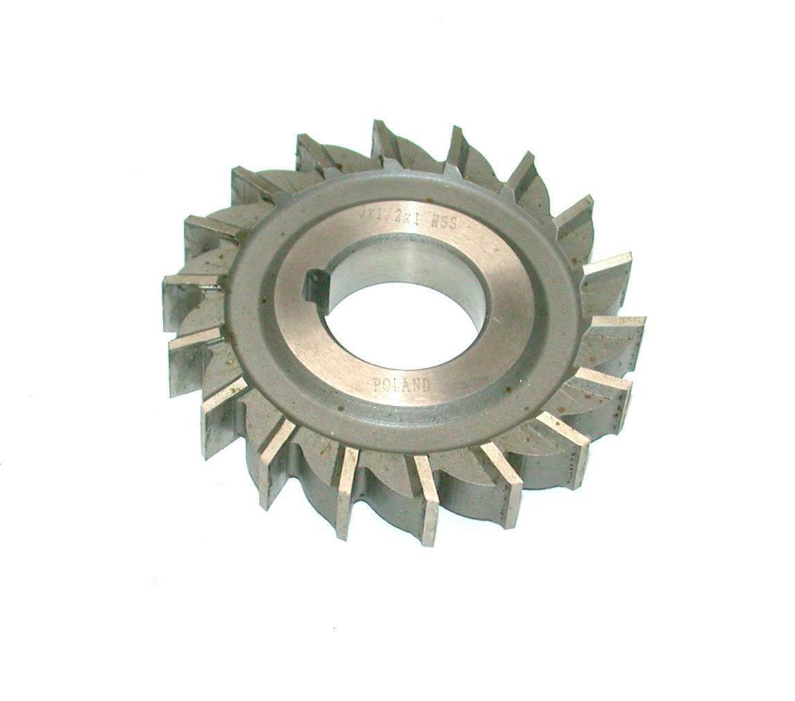 HSS Import Staggered Tooth Side Milling Cutter 3 DIA x 9//16 Face x 1 Hole x 16 Teeth