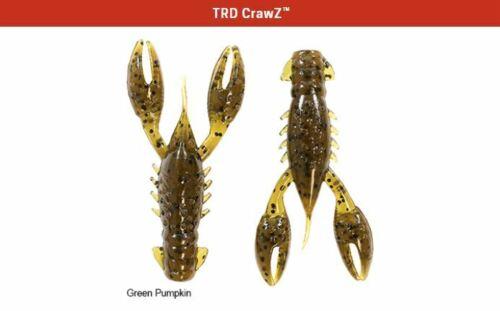 "Z-Man TRD CrawZ 2.5/"" Green Pumpkin 6 Pack Soft Plastic TRDCR-46 Crawdad"