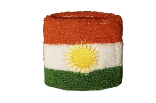 Schweißband Fahne Flagge Kurdistan 7x8cm Armband für Sport