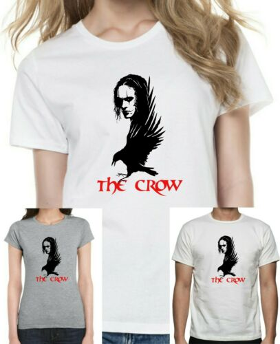 THE CROW 90/'s Retro Film T-Shirt Unisex or Women/'s Fitted Tee Printed Cotton