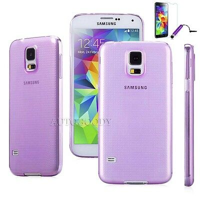 Slim Transparent Crystal Clear Soft Gel Case Cover for Samsung Galaxy S5