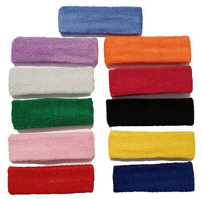 Sonnig Cotton Sport Sweat Sweatband Headband Yoga Gym Tennis Stretch Unisex Head Band