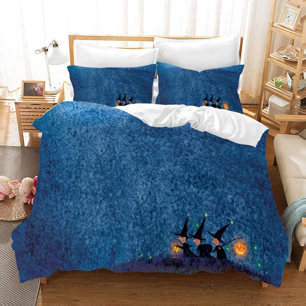 Pumpkin Lanterns 3D Printing Duvet Quilt Doona Covers Pillow Case Bedding Sets