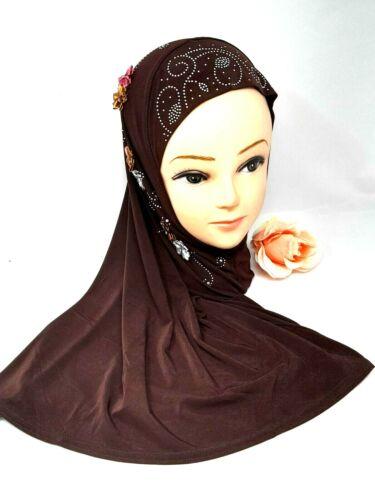Enfants Filles//womemuslim Hijab Islamique Arabe écharpe châles avec de belles fleurs