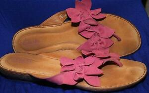 Womens clark pink sandals with flower accent size 11 ebay image is loading women 039 s clark pink sandals with flower mightylinksfo