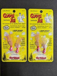 "(2) Northland Fishing Tackle - ""Sparkling"" Gypsi Jig® - Pink 1/16 oz"