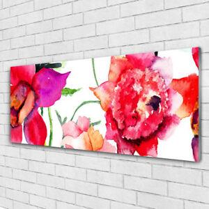 Impression sur verre acrylique Image tableau 125x50 Art Fleurs