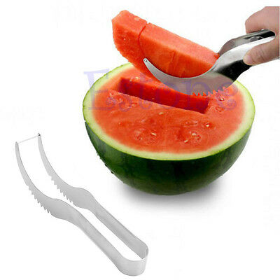 Watermelon Slicer Cutter Corer Server Stainless Steel Scoop Fruit Knife Tools