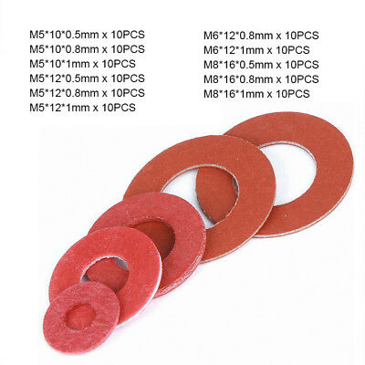 FIBRE WASHERS RED METRIC Various Qty