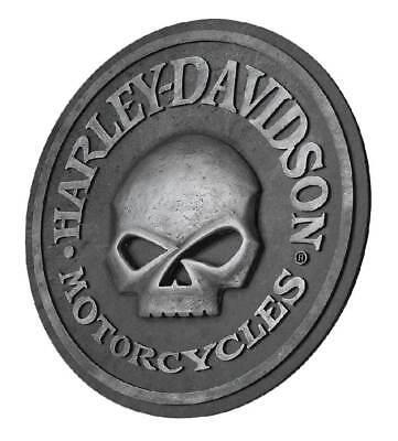 Harley Davidson Willie G Skull Sculpted 3D Pub Sign Man Cave Christmas Gift