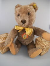 Steiff Original Teddy caramel 35 cm - komplett mit KFS - 50er 60er Jahre (166)