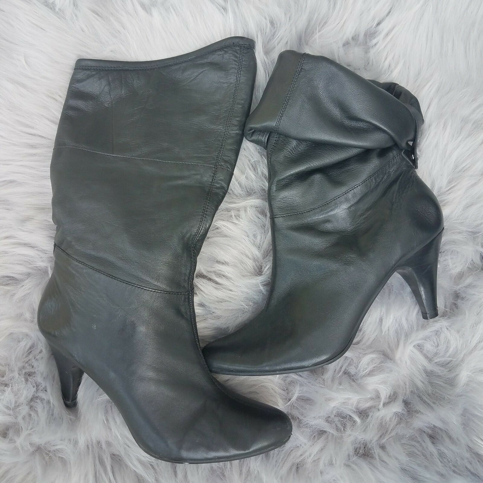 Women's style & Co black leather boots size 8.5