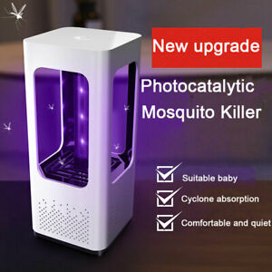 Electric Quiet Insect Killer Fly Bug Mosquito LED Light Trap Lamp Pest Contro IT