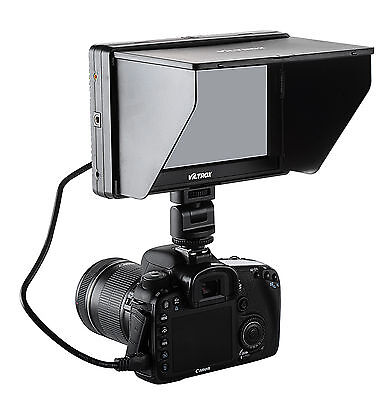 "Viltrox DC-70 7"" Hot Shoe Clip-on TFT LCD Monitor AV HDMI Input for Canon Nikon"